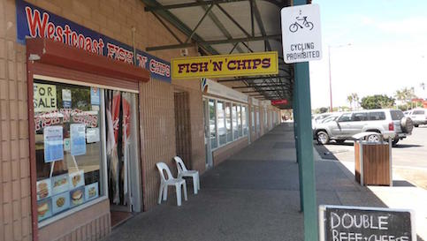 West Coast Fish and Chips, Carnarvon, Wintersun Caravan Park, Carnarvon, Western Australia, Carnarvon Caravan Park, Places to stay Carnarvon